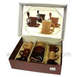 coffret 6 tasses caf plateau arts de la table porcelaine gres faience ardoise tasse. Black Bedroom Furniture Sets. Home Design Ideas