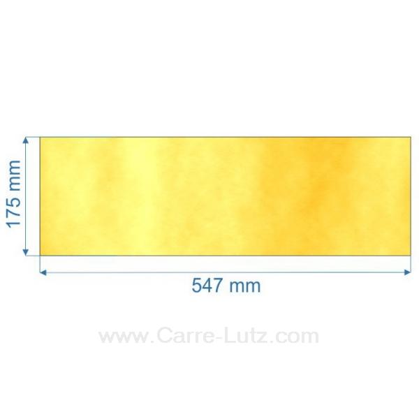 verre r fractaire vitroc ramique 547x175 mm pi ces. Black Bedroom Furniture Sets. Home Design Ideas