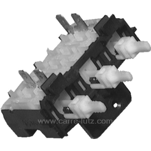 selecteur 3 touches de lave linge brandt vedette 51x8001. Black Bedroom Furniture Sets. Home Design Ideas
