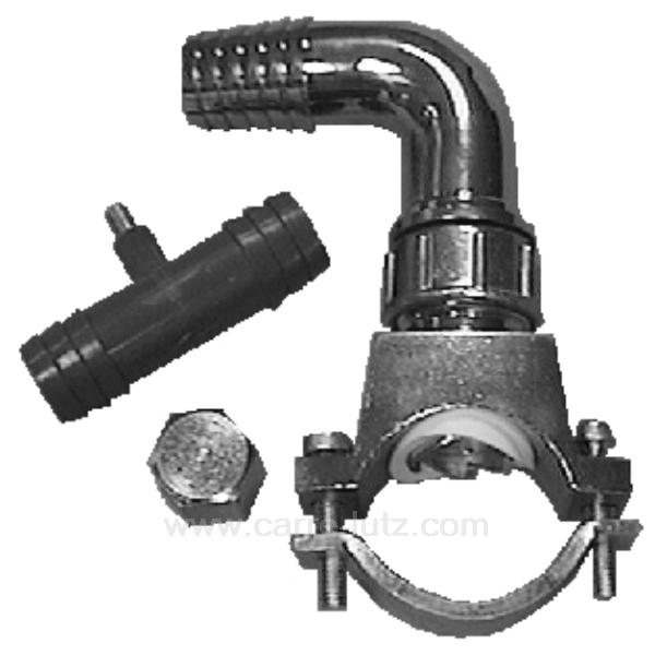 Bride de vidange auto perceur pour tuyau pvc for Poser un robinet auto perceur