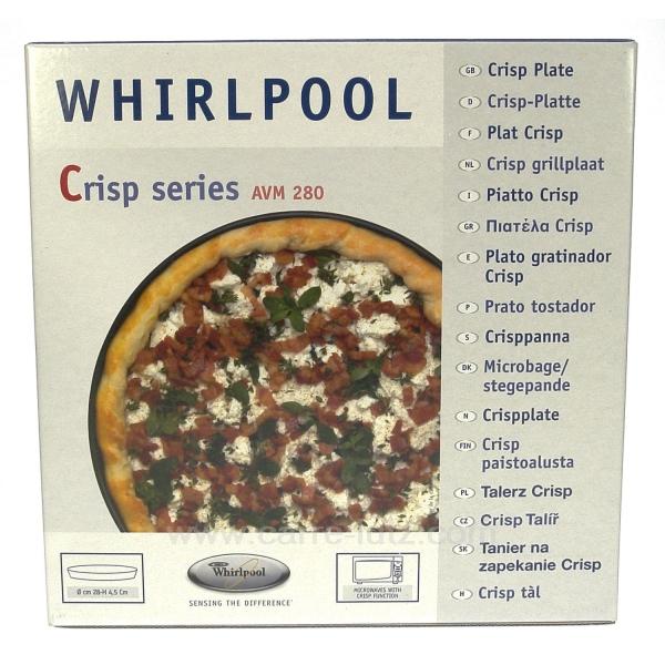 plat haut 280 mm sp cial micro ondes crisp whirlpool avm280 la cuisine plat crisp 609657. Black Bedroom Furniture Sets. Home Design Ideas