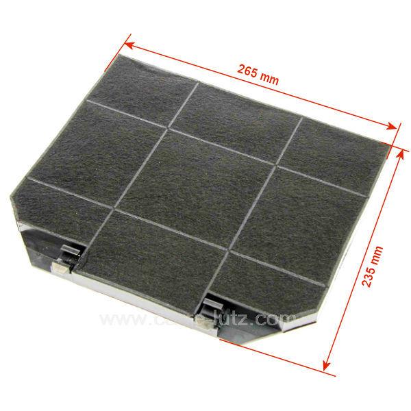 filtre de hotte charbon actif eff72 265x235 mmariston scholtes roblin pi ces d tach es. Black Bedroom Furniture Sets. Home Design Ideas