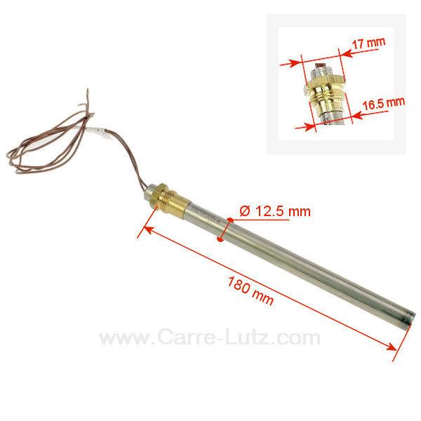 R sistance 350w 12 5 mm longueur 180 mm de po le pellet for Probleme poele a granule