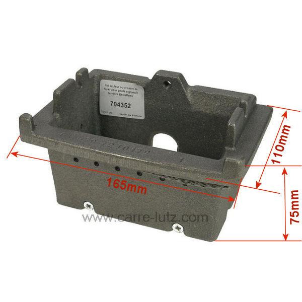 Pot bruleur ou creuset de foyer 004278159 pour poele a - Bruleur a granule ...
