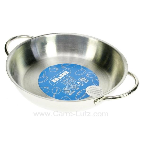 Plat oeuf ou welch inox diam tre 18 cm la cuisine for Plat cuisine inox