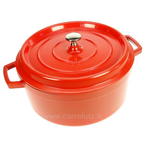 Cocotte en fonte d 39 aluminium ronde diam tre 28 cm lacor - Cocotte ronde en fonte ...
