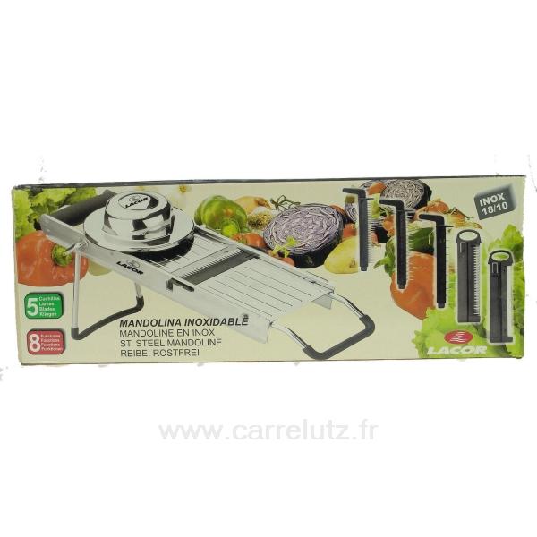 Mandoline multi rapes inox 8 fonctions 60332 lacor la - Mandoline cuisine inox ...
