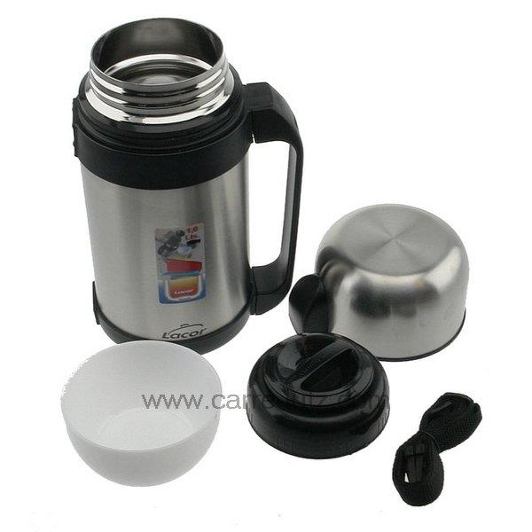 boite alimentaire inox isotherme 1 litre 62440 lacor la cuisine boite et pichet isotherme et. Black Bedroom Furniture Sets. Home Design Ideas