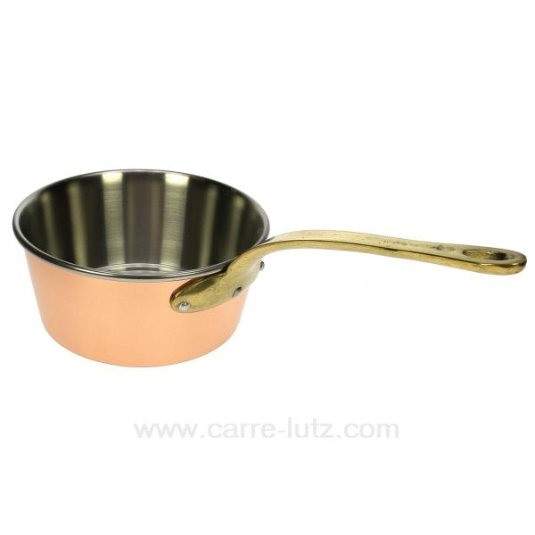 Casserole conique cuivre 18 cm la cuisine batteries de - Batterie de cuisine cuivre ...
