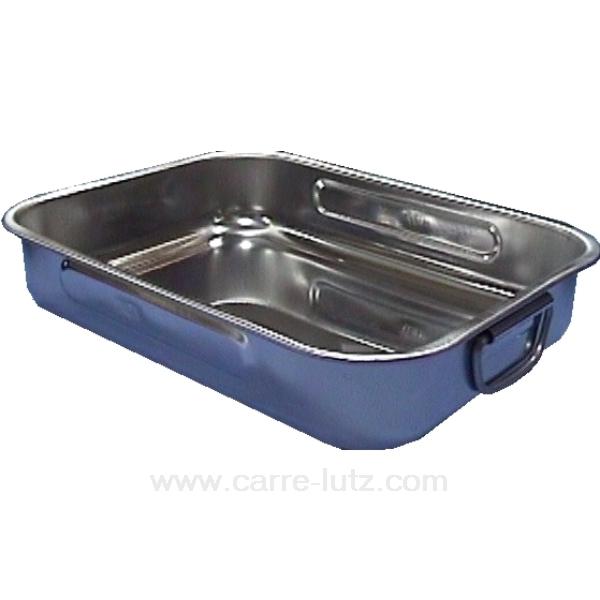 Plat four inox 38x27 cm la cuisine plat et cocotte for Plat cuisine inox