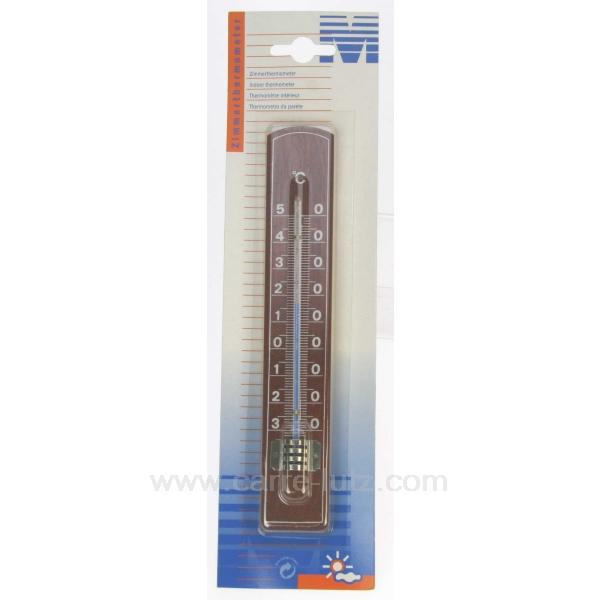 THERMOMETRE BOIS FONCE  Cadeaux Décoration > Thermometre  ~ Thermometre Bois