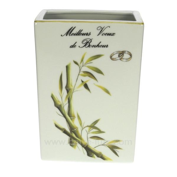 vase bambou mariage cadeaux d coration objet pour c lebration noces cl14601000. Black Bedroom Furniture Sets. Home Design Ideas