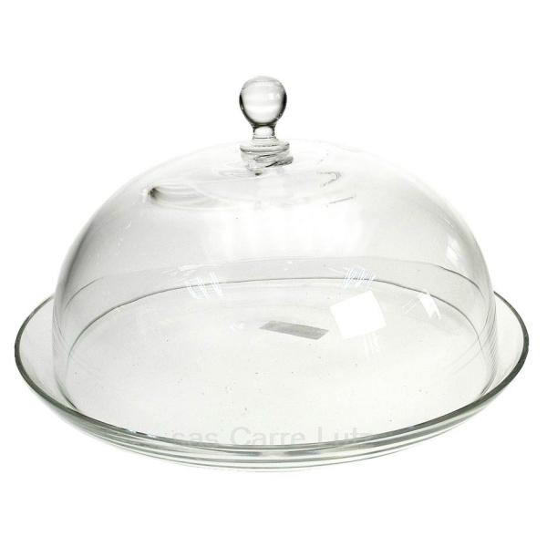 Cloche sur plat en verre arts de la table service - Cloche en verre casa ...