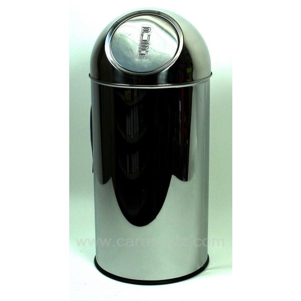Poubelle inox 35 lt la cuisine poubelle de cuisine cl23000025 for Poubelle cuisine inox roulettes