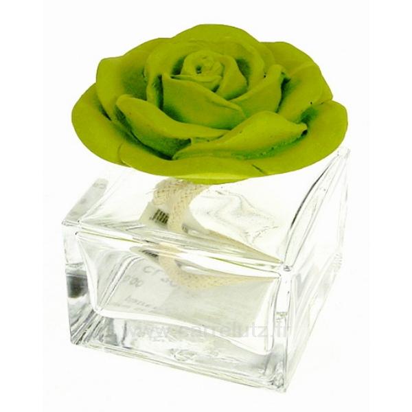 diffuseur de parfum rose en platre verte cadeaux d coration senteurs et bougies diffuseur. Black Bedroom Furniture Sets. Home Design Ideas