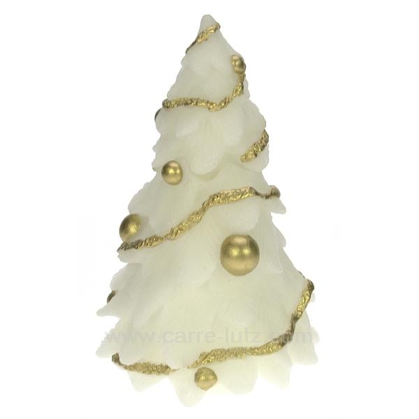 sapin de noel mm blanc cadeaux d coration senteurs et bougies bougie noel cl31000160. Black Bedroom Furniture Sets. Home Design Ideas