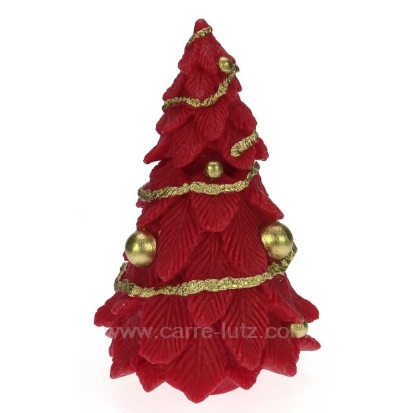 sapin de noel mm rouge cadeaux d coration senteurs et bougies bougie noel cl31000161. Black Bedroom Furniture Sets. Home Design Ideas