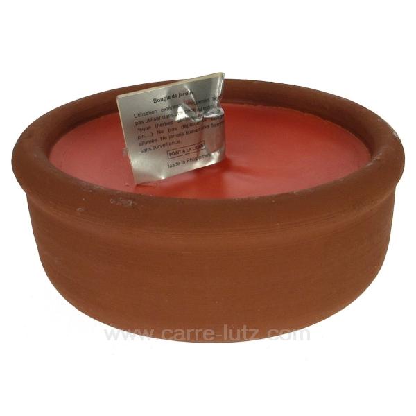 pot de terre citronnelle cadeaux d coration senteurs et bougies bougie nature cl31000162. Black Bedroom Furniture Sets. Home Design Ideas
