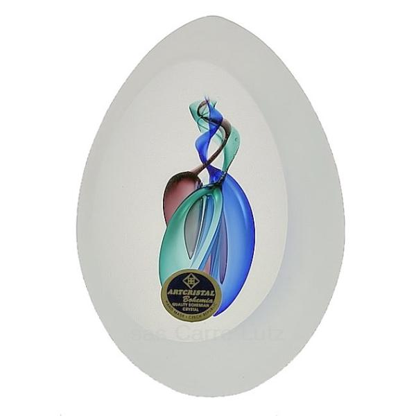 oeuf sabl cristal de boh me bleu mauve vert cadeaux d coration objets en verre et en. Black Bedroom Furniture Sets. Home Design Ideas