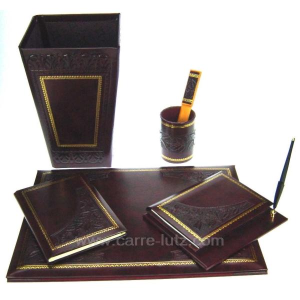 parure de bureau 6 pi ces cadeaux d coration ecriture et courrier cl42000005. Black Bedroom Furniture Sets. Home Design Ideas