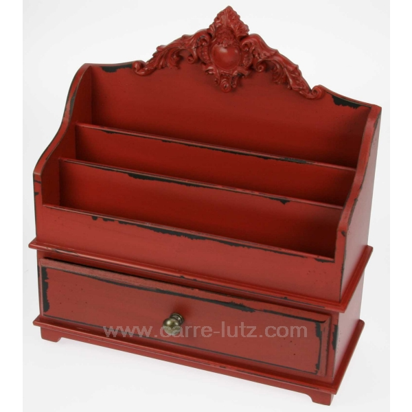 Porte courrier 1 tiroir cadeaux d coration ecriture et courrier cl42000020 - Porte courrier ...