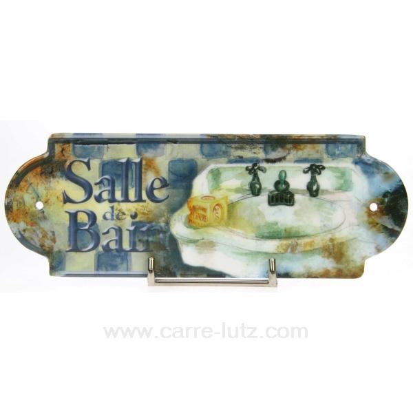 Plaque de porte salle de bain cadeaux d coration for Plaque salle de bain