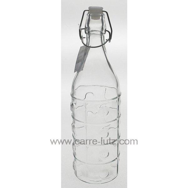 bouteille en verre 1 litre point arts de la table pichet cl50152124. Black Bedroom Furniture Sets. Home Design Ideas