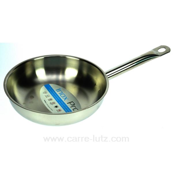 Po le inox professionnel 28 cm la cuisine batteries de for Batterie poele inox