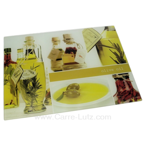 Planche d couper en verre bouteille d 39 huile la cuisine for Planche a decouper en verre