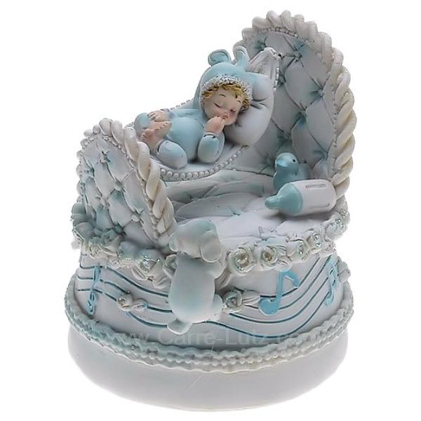 b b gar on dans son berceau cadeaux d coration carrousel man ge et boite musique boite. Black Bedroom Furniture Sets. Home Design Ideas