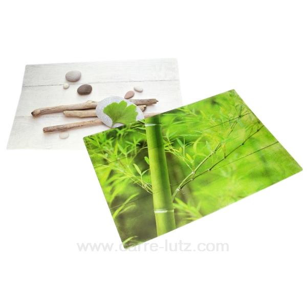 set de table bambou gynkgo arts de la table set de table dessous de verre cl70000056. Black Bedroom Furniture Sets. Home Design Ideas