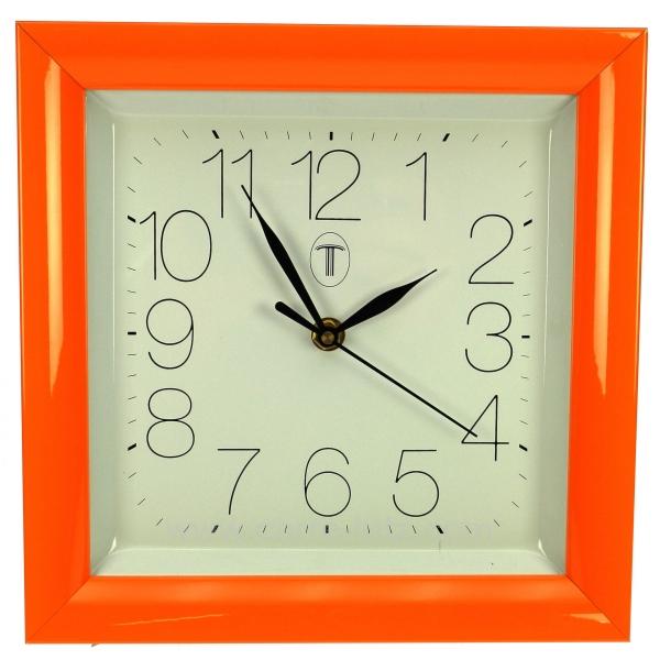 horloge carr orange horlogerie horloge et pendule. Black Bedroom Furniture Sets. Home Design Ideas