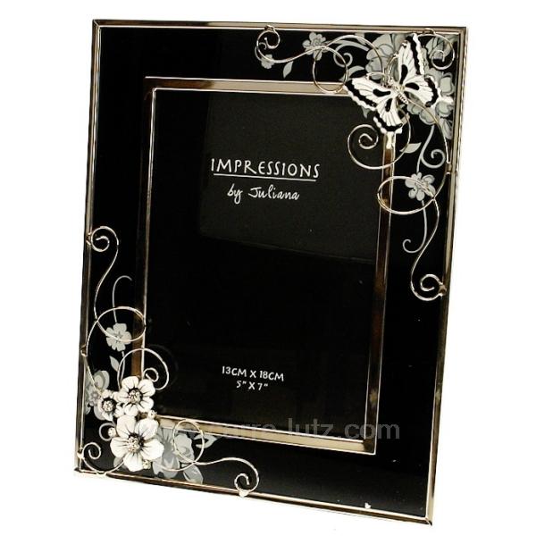 cadre photo noir et blanc papillon cadeaux d coration. Black Bedroom Furniture Sets. Home Design Ideas