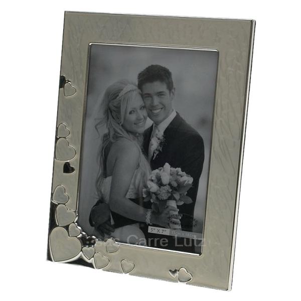 cadre photo mariage nacr coeurs cadeaux d coration cadre et porte photo cl84000183. Black Bedroom Furniture Sets. Home Design Ideas