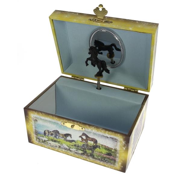 coffret bijoux cheval musical cadeaux d coration boite bijoux boite bijoux musicale. Black Bedroom Furniture Sets. Home Design Ideas