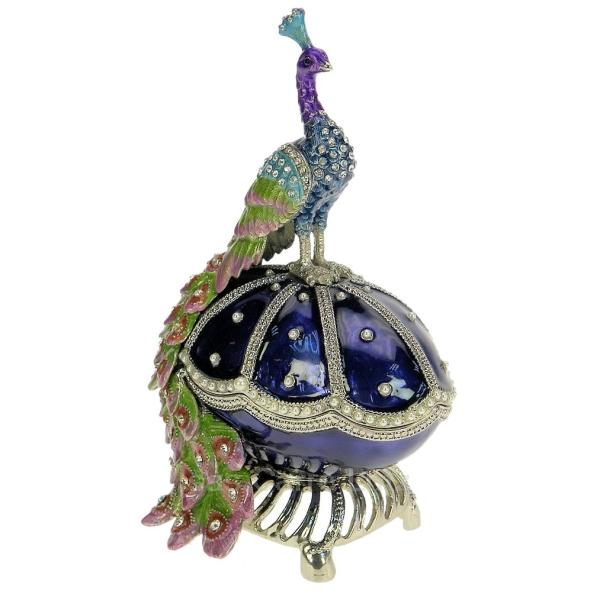 Boite mail paon sur oeuf cadeaux d coration boite - Decoration boite oeuf ...
