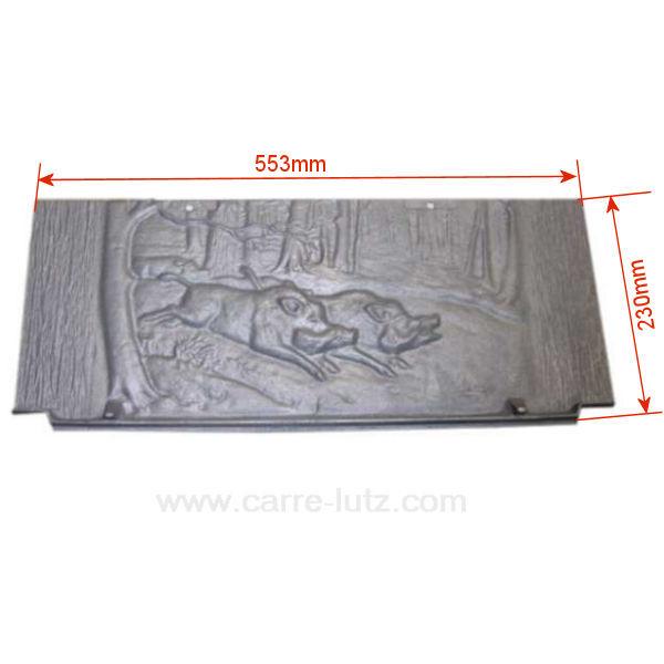 Plaque arri re de foyer p0019508 deville 7762 7765 7787 for Plaque de fonte pour poele a bois