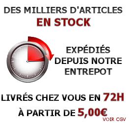 Des milliers d'articles en stock expédiés le jour même avant 15h et livrés chez vous en 48h
